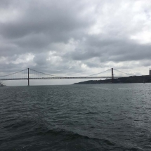 Grey beginnings view of bridge from ferry
