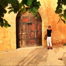 Me at Medina wall by beach