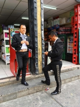 Mariachis in convenient store