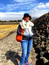 Mom at Pyramid of the Sun