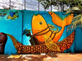 North Bogota Street Art Giant Fish