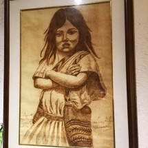 La Victoria Native Girl Drawing