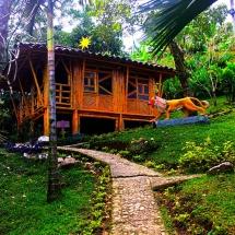 My Bamboo Hut on stilts