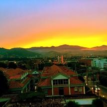 Sunset over Medellin
