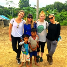 Village kids and us