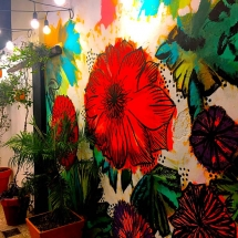 Galeria's painted wall