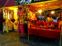 Artisenal Market clothing stands